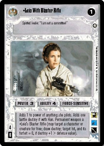 Leia With Blaster Rifle