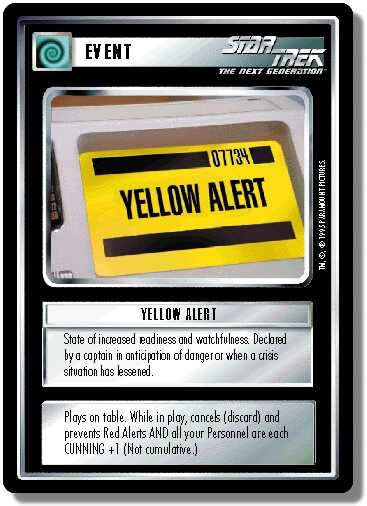 Yellow Alert (first version)