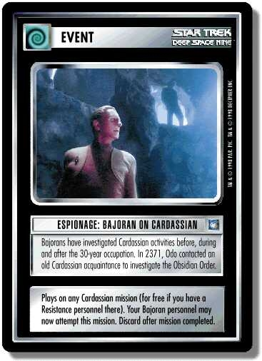 Espionage: Bajoran on Cardassian