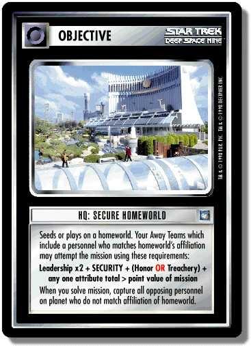HQ: Secure Homeworld