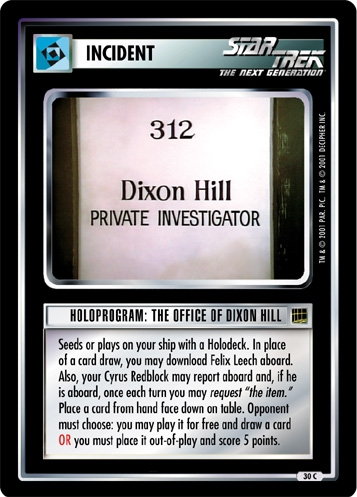 Holoprogram: The Office of Dixon Hill