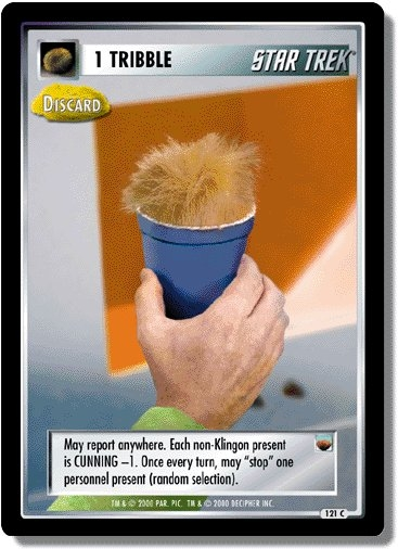 1 Tribble (Discard)