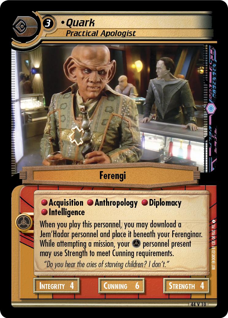 Quark, Practical Apologist