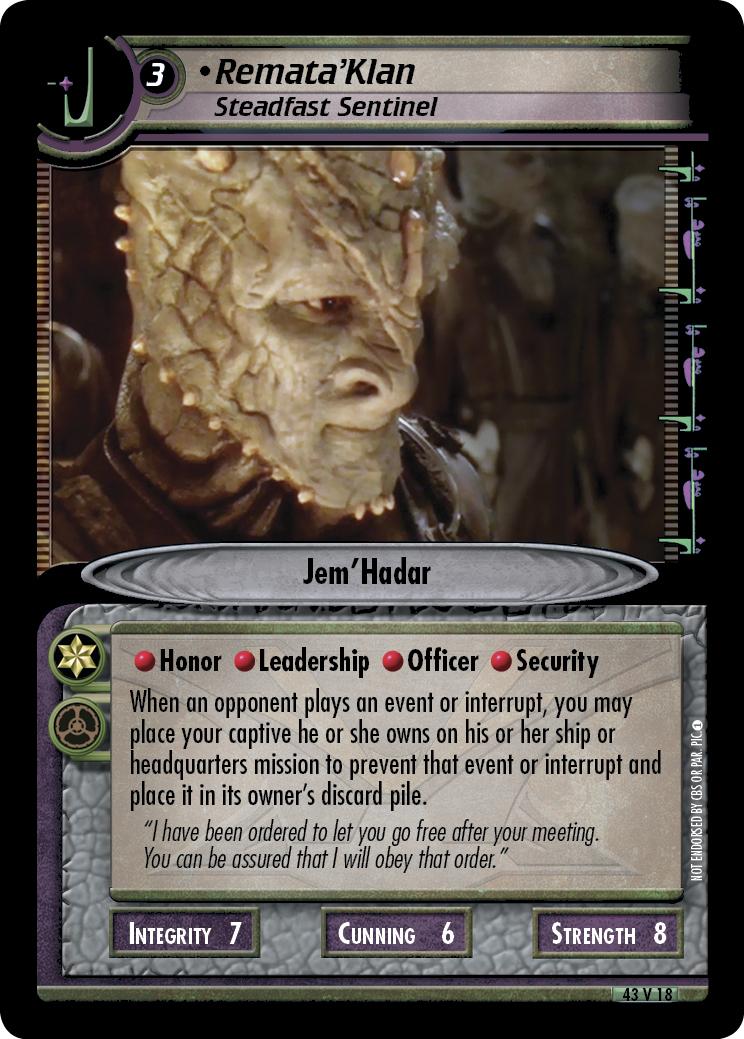 Remata'Klan, Steadfast Sentinel